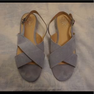 Vince Camuto baby blue suede sandals